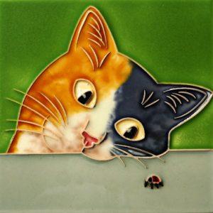 Cat and Ladybird