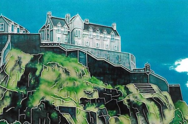 Edinburgh Castle Picture Tile - 8 inches by 12 inches