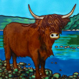 Highland Cow on Loch