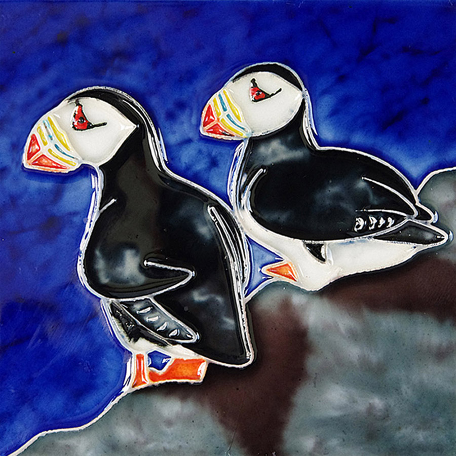 Two Puffins (Large)