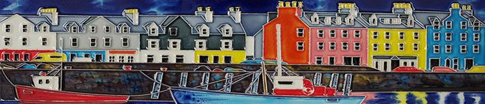 Ceramic Picture Tile - Tobermory Harbour