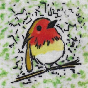 Robin Ceramic Picture Tile